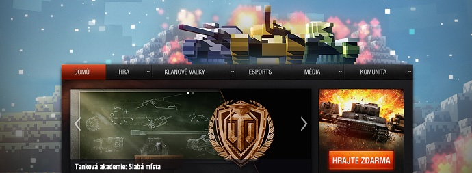 World of Tanks homepage